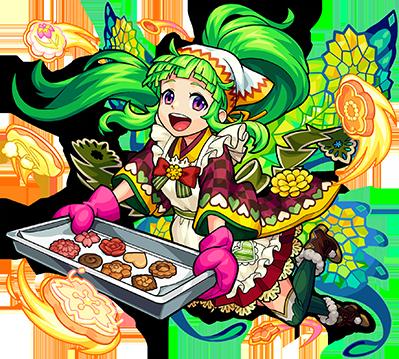 クッキーを焼くモンスターストライク・蒲公英の画像